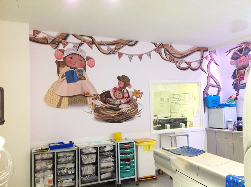 Alder Hey wall artwork