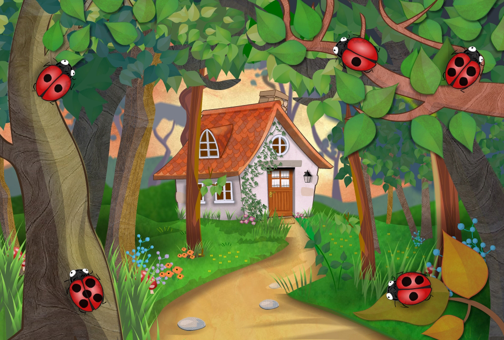 Goldilocks cottage - app illustration