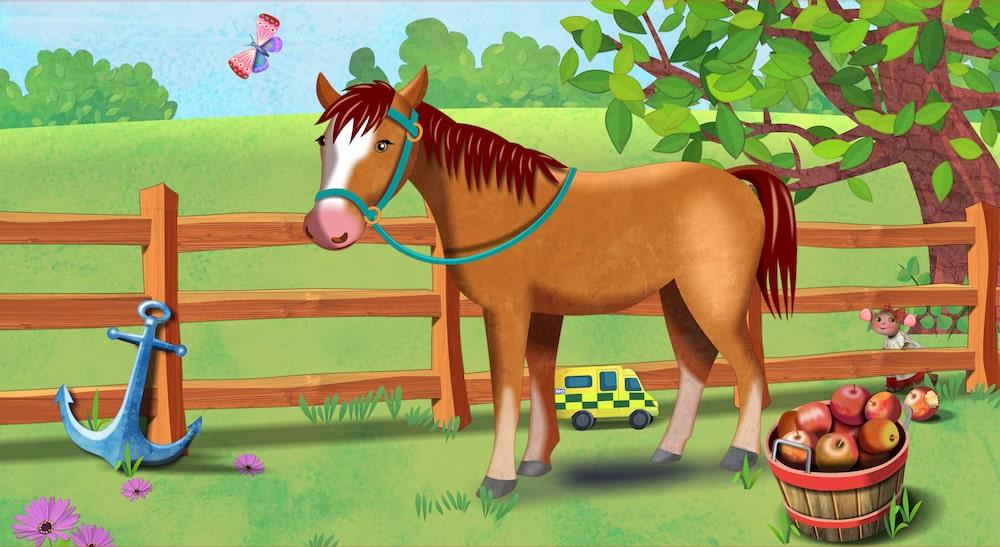 Horse corridor artwork
