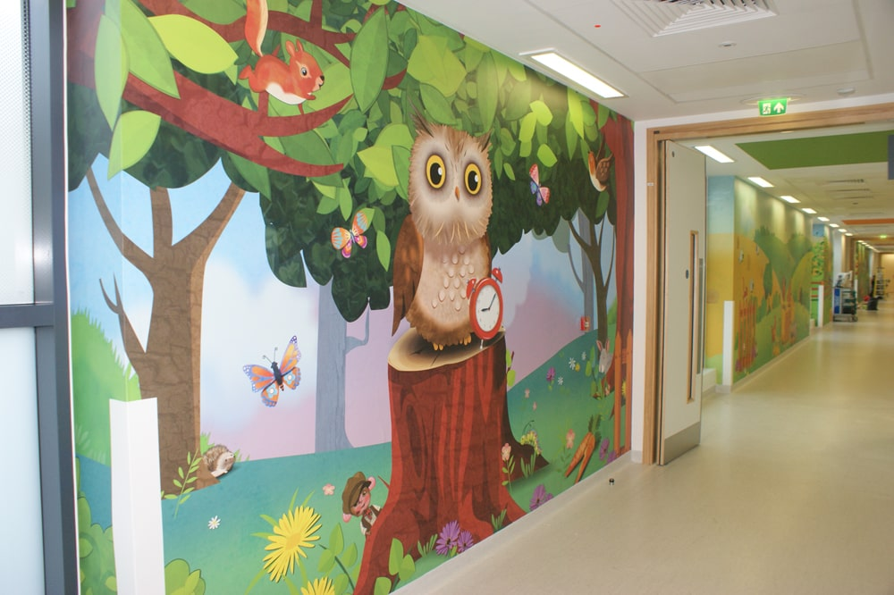 Owl corridor artwork