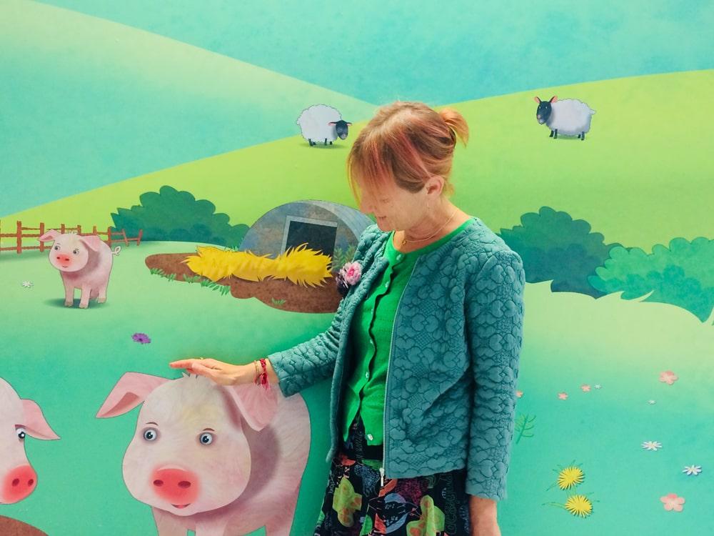 Pig corridor artwork