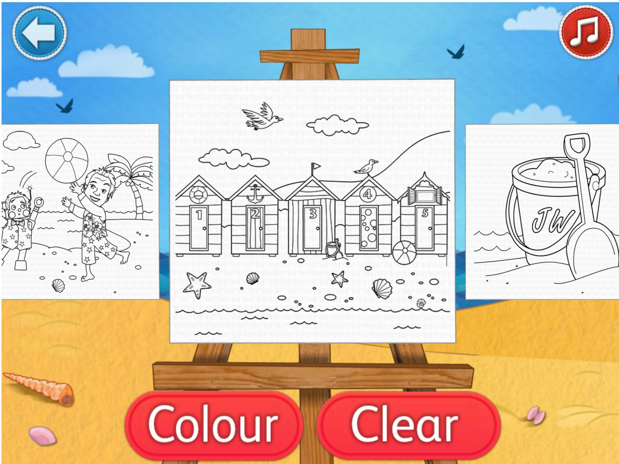 colouring in - app illustration