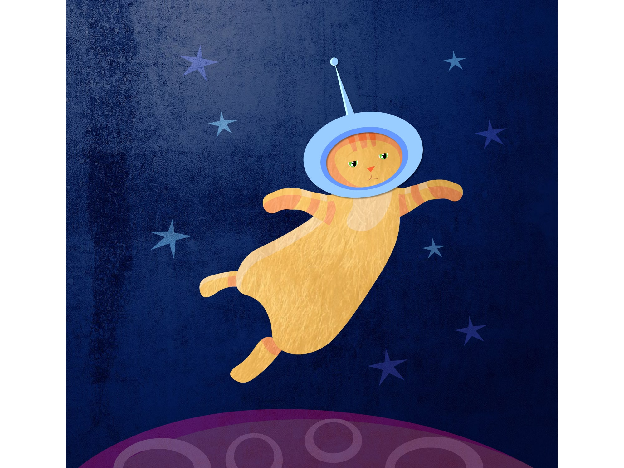 Space cat illustration - Luella Jane