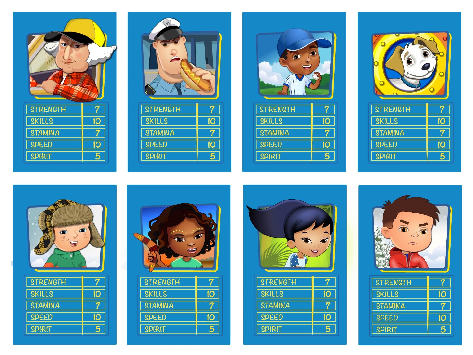 Top Trumps illustrations
