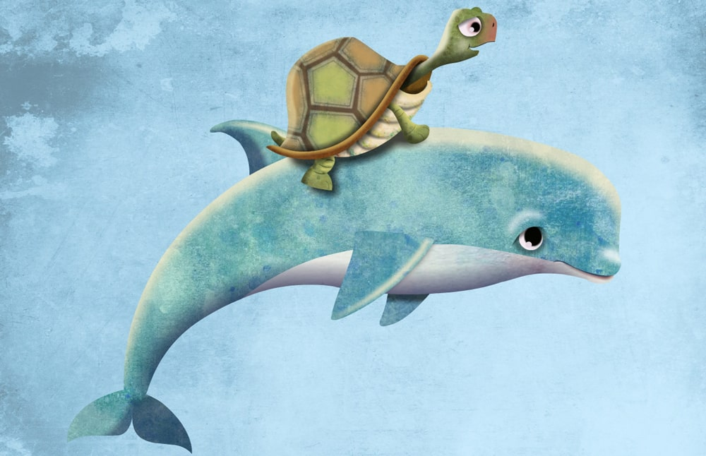 Tortoise and porpoise